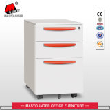 Office Use Metal 3 Drawer Mobile Cabinet com chave