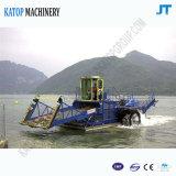 Weedの自動水生収穫機、川のクリーニングの船