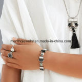 Das mulheres preto e branco simples do diamante da forma quente da venda pendente do projeto geométrico do bracelete