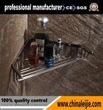 Acessórios luxuosos do banheiro da cesta do canto do aço inoxidável da alta qualidade
