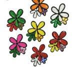 Laço brilhante do bordado da correção de programa da flor dos Sequins bonitos