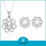 2015 La suerte de conjunto de joyas de plata de la perla de las ventas en línea (J-0011)