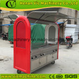 2017 dirty Newest flat hand push food cart for