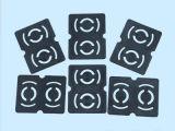 Preiswerte kundenspezifische schwarze Gummimembrane der Qualitäts-EPDM/NBR/FKM/Silicone für Pumpe