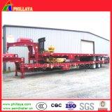 30 tonnes de double essieu de Lowbed de bâti de remorque inférieure semi