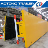 3 판매를 위한 반 차축 40FT 평상형 트레일러 콘테이너 화물 트레일러