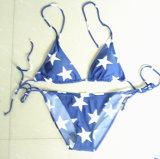 Самый новый Swimsuit вычуры конструкции, Бикини с звездами для девушок (XMF-g33)