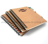 Custom Custom Spiral Notebook avec stylo Eco Friendly pour la promotion (SNB125)
