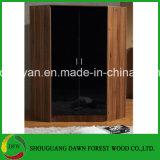 Moderne einfache Melamin-Tür-moderner Eckgarderoben-Entwurf