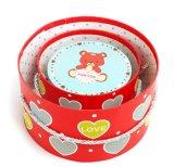Rectángulo de regalo de papel redondo elegante y popular con el Bowknot bonito para el regalo de cumpleaños, caja de embalaje del regalo de moda de la impresión en color
