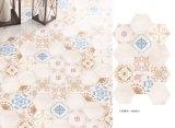 Badezimmer-Beleg-deckt beständiges Fliese-Badezimmer Eckfliese des Hexagon-sechs mit Ziegeln