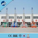 Control doble del equipo de seguridad del edificio del elevador del alzamiento de la construcción de la cabina VFD