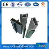 Profils de fenêtres coulissantes en aluminium à deux rails