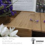 Hongdao modificó el rectángulo de empaquetado del regalo para requisitos particulares de madera de lujo de la insignia con el _E con bisagras del rectángulo de almacenaje de la venta al por mayor de la tapa