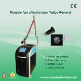 Máquina tripla da remoção do tatuagem do laser do comprimento de onda 1064nm 532nm 755nm Pico segundo