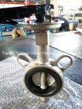 Полупроводниковая пластина из нержавеющей стали типа двухстворчатый клапан с шестерней/ручка