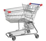 Carro de compra do supermercado com zinco do tratamento de superfície com revestimento do pó, você colore está disponível
