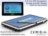"""ダッシュ車のMotoの標準的な携帯用手持ち型の4.3 """"運行組み込みのGlonass GPSのモジュール、FMの送信機、ひるみ6.0の車GPSの受信機アンテナGPS操縦士"""