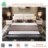 ホーム寝室のための高い等級の革頭板の最新の木のベッド