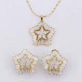 18 Reeks van de Halsband van het Zirconiumdioxyde van de Reeksen van de Juwelen van het karaat de Gouden Modieuze