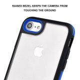 per il caso iPhone7, reticolo 2 del leopardo in 1 caso protettivo duro Bumper molle ibrido del coperchio posteriore del PC di caso TPU per il iPhone 7 del Apple