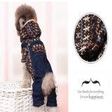 개 카우보이 의류 봄과 가을 고양이 외투를 위한 개 옷 데님 복장 형식 애완 동물 옷