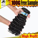 pacotes brasileiros não processados do Weave do cabelo de 10A Borgonha