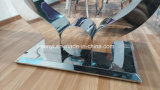 Aangemaakt Glas of de Marmeren Hoogste Eettafel van het Roestvrij staal
