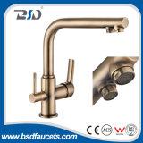 Faucet кухни дороги смесителя 3 питьевой воды крома установленный палубой