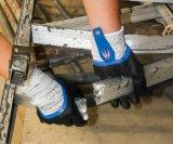 3/4 нитриловые покрытие Anti-Cut волокна водонепроницаемый рабочие перчатки