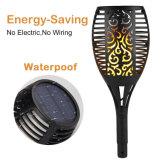 Flackerndes im Freien LED Solarlandschaftslicht der Flamme-Fackel-mit hellem Fühler