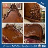 B268 sculpté à la main Pays lit en bois brun avec taille personnalisée
