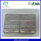 Papel o tarjeta de la recarga del rasguño del móvil o de la célula del PVC