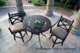 標準的で高い食事の鋳造アルミの庭の家具