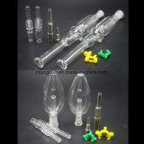 tubos de agua de cristal de la paja de la miel de 10mm/14mm/18m m para fumar