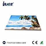 Большинств популярная брошюра видео- карточки 7 дюймов видео- в печати, поздравительной открытке цифров видео-/карточке подарка