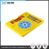 Het harde ABS van de Dekking Kleurrijke Elektrische Muzikale Stuk speelgoed van de Knoop van de Baby van Kinderen