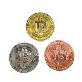 Dekoratives neues Bitcoin, Gold überzog Qualitäts-Metallandenken kundenspezifische Antiqu Goldmünze