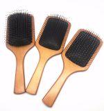Cepillo de pelo grande de madera de la paleta para el enredo