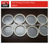 Anillo de cerámica del Zirconia de la taza de la tinta de impresión de la pista del tungsteno del carburo Y-06 para la impresora de Tampo