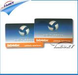 Cmyk imprimir tarjetas de PVC de doble cara con orificio de perforación