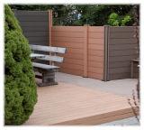 Großverkauf Bruch-Widersteht zurückführbaren zusammengesetzten Zaun-Panels des Wood-GrainWPC für privates Landhaus