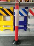 Poste de amarração flexível plástico baixo de borracha flexível da segurança de estrada de Jiachen