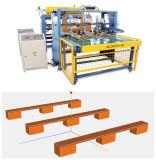 A linha de produção de paletes de madeira