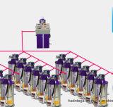 Système central de transport pneumatique de pièce de fonctionnement pour des plastiques