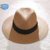 Chapeau de paille de godet d'été de mode chapeau avec conception Customed
