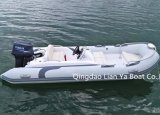 Ce gonflable de bateau de côte de bateau de luxe de la vitesse 4person de Liya 14FT