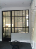 Acier peint Windows de style ancien d'Acier-Glace