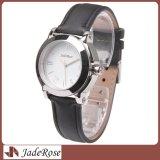 Reloj de lujo de plata de la alineada de las mujeres, reloj del acero inoxidable de la venta al por mayor