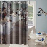Casa moderna a cortina do chuveiro Hookless decorações para casa de banho